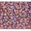 Seedbead Striped Transparent  Multi Matte 4/0